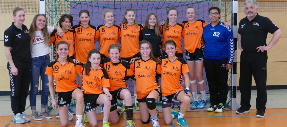 Handball weibliche C-Jugend der SG-Stutensee/Weingarten mit Fokus Badenliga