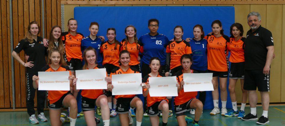 Handball weibliche C-Jugend der SG-SW geht ungeschlagen in die Badenliga!