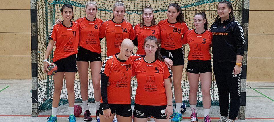 Spiel der weiblichen B-Jugend 2 gegen den TSV Knittlingen. Sieg mit 29:6