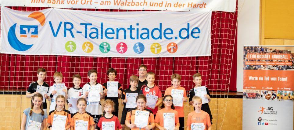 Die Walzbachhalle Weingarten war Austragungsort der ersten Runde der VR-Talentiade im Handball