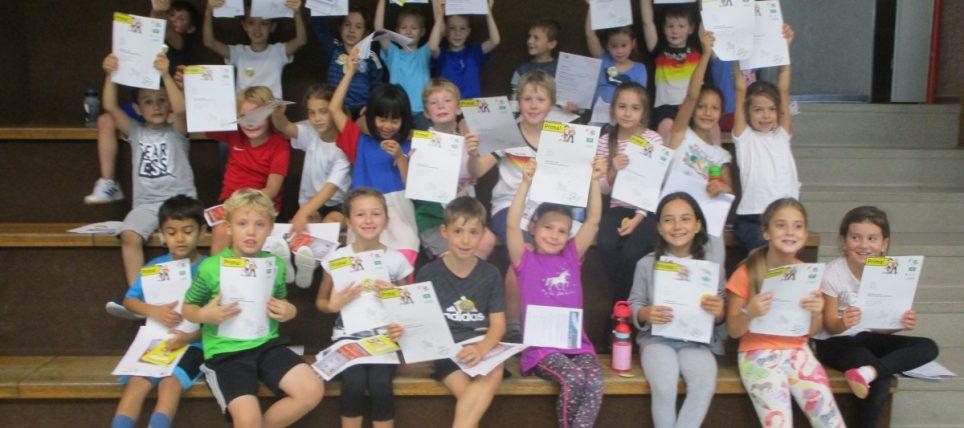 BHV-Grundschulaktionstag fand auch in der Pestalotzi Schule in Blankenloch statt
