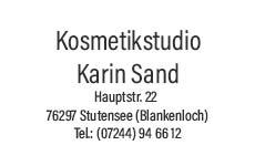 Kosmetik & Fusspflege Karin Sand